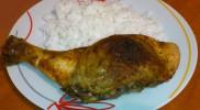 Gombával töltött csirkecomb rizzsel